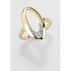 Ring- Gold-585/- Gelb - BRILL. 0,094 Ct. w/si - 5,02 g